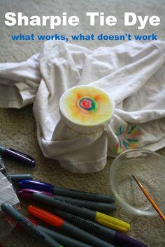 Having Fun at Home: Sharpie Tie Dye Method: 10 Tips