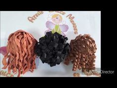 "Welcome to Ovejita Craft Tutorials ! ""The best thing about teaching is sharing"" Create Your Own Crafts From Your Favorite Series! I do Craft Tutorials, DIY,. Foam Crafts, Crafts To Do, Crafts For Kids, Eva Hair, Harry Potter Christmas, Fondant Cupcakes, Pasta Flexible, Doll Hair, Fabric Dolls"