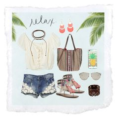 """""""Summer #26 - """"RELAX."""""""" by sammers-i on Polyvore featuring WithChic, Jens Pirate Booty, Sam Edelman, Forever 21, Christophe Sauvat, LIU•JO, Christian Dior, Acne Studios and Casetify"""