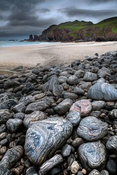Scotland Itinerary :: Scottish Highlands :: Dalmore Beach. ( Traigh Dhail Mor ) Isle of Lewis. Scotland.