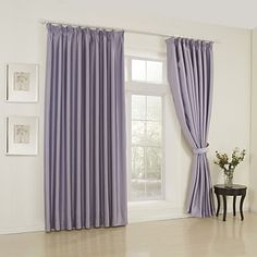 (One Pair) Classic Solid Lavender Room Darkening Curtain  – USD $ 59.99