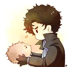 Tiny Sherlock and a hedgehog named John. This links to the cutest little fanficlet. Click. You wont regret it. HAPPY FEELS!!!!