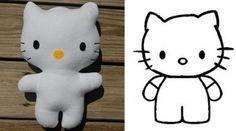 Adorável boneca da Hello Kitty em feltro - Bolsa de Mulher