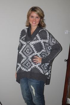 Stitch Fix - November 2015 Stitch Fix Outfits, Poncho Sweater, Bell Sleeve Top, My Favorite Things, Blouse, My Style, Womens Fashion, Sweaters, Clothes