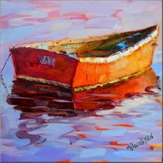 """Reflections of a Rat Boat oil on board paintings of rat boats dory old boats wooden boat"" - Original Fine Art for Sale - Maryanne Jacobsen Boat Art, Old Boats, Boat Painting, Art Nouveau, Nautical Art, Artist Gallery, Henri Matisse, Learn To Paint, Painting Inspiration"