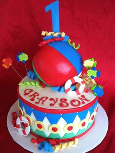 Children Beach Ball Birthday Cake Edible Art Of Charlotte NC