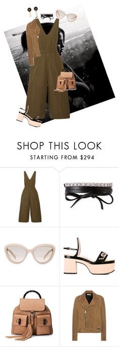 """Sin título #185"" by majo-mv on Polyvore featuring moda, Ulla Johnson, Fallon, Prada, Rochas, Gucci, Yves Saint Laurent y Chanel"