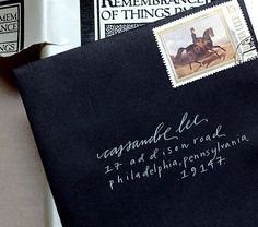 Ohhh, I absolutely adore black envelopes and the white calligraphy on it is such a beautiful contrast!