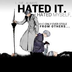 Both had to see each other's deaths... ~ Haise and Arima