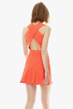 Vestido espalda cruzada #ubyadolfodominguez