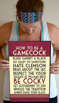 South Carolina Gamecocks ~ #3 is VERY, VERY important!