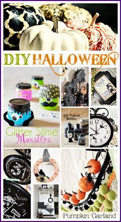 Halloween Crafts and Decor... So many great and affordable ideas! adorable! #halloween