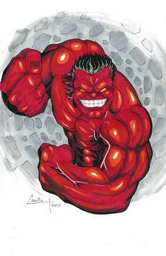#Red #Hulk #Fan #Art. (Red Hulk) By:Camillo1988. ÅWESOMENESS!!!™ ÅÅÅ+