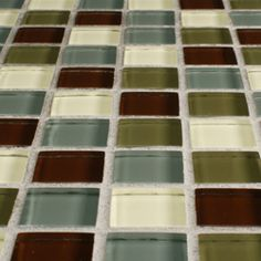 @Overstock - These translucent glass tile sheets are perfect for your kitchen, bath or backsplash. These wall tile sheets showcase shades of green and earthtones.http://www.overstock.com/Home-Garden/SomerTile-12x12-in-Reflections-Square-1-in-Canopy-Glass-Mosaic-Tile-Pack-of-10/4564908/product.html?CID=214117 $120.99