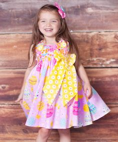 Look what I found on #zulily! Pink Psanka Puffy Dress - Infant, Toddler & Girls by Jelly the Pug #zulilyfinds