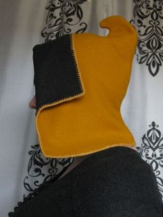 Open hood how-to with pattern diagram and a tutorial on sewing tablet-woven edging