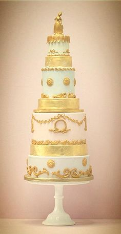 Marie-Antoinette wedding cake - Exclusive To Harrods | Wedding Cakes From Talented Rosalind Miller #WeddingCakes www.finditforweddings.com