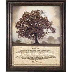 Living Life/Tree of Life Framed Print