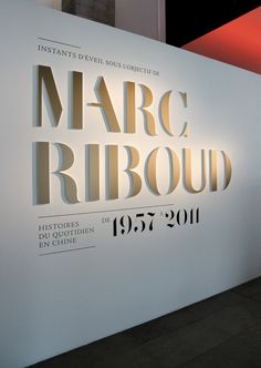 Marc Riboud: The Flat-Cut-Out letters combined with the painted (or vinyl) is a great  look that works in so many applications.