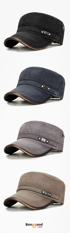 64950b1f81f Outdoors Cotton Sunshade Military Army Cap For Mens Casual Military Durable  Flat Top Hat