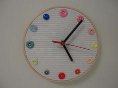 relógio de parede craft com bastidor