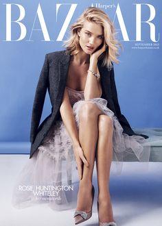 Rosie Huntington-Whiteley for Harper's Bazaar September 2015 cover   Harper's Bazaar