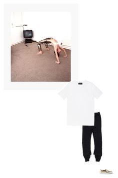 """""""/"""" by darkwood ❤ liked on Polyvore featuring Haider Ackermann, Common Projects and Tourne"""