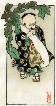 hanga gallery . . . torii gallery: The Daikon and the Baby by Helen Hyde http://www.hanga.com/viewimage.cfm?ID=3172
