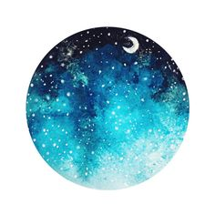 Night Sky Art Print ($16) ❤ liked on Polyvore featuring home, home decor, wall art, circle, circular and round