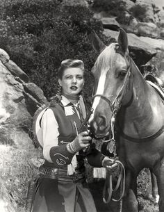 Gail Davis played Annie Oakley in a 1954-57 TV series and rode a horse named Target.  Tagg's horse was Pixie and Lofty's was named Forest.