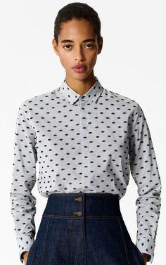 PALE GREY 'Multi Eye' shirt for women KENZO