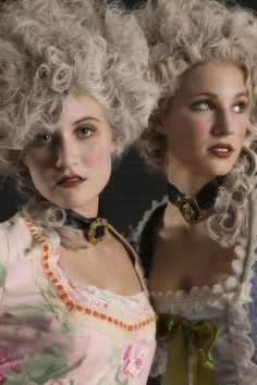 Marie Antoinette inspired look. Hair & Makeup by Kristin