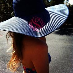 Awesome Monogrammed Beach hat:)