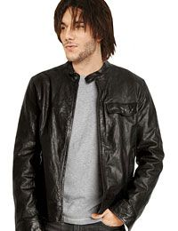 Stylish Black Leather Jacket For Mens