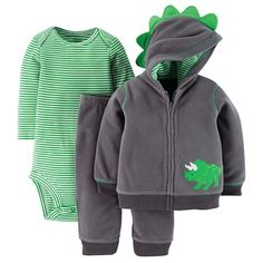 Just One You™ Made By Carter's® Newborn Boys' 3-Piece Dino Set - Green