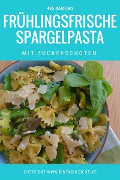 Ein Rezept für eine schnelle und leichte Pasta mit Spargel. Safran und die Zuckerschoten machen diese Pasta zu einem wahren Genuss! Und sie ist kalorienarm und vegetarisch, was wollt ihr mehr? Pesto Pasta, Risotto, Cabbage, Roast, Lunch, Vegan, Vegetables, Portal, Food
