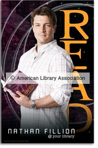Nathan Fillion Poster - Other READ Products - Posters - Products for Young Adults - ALA Store