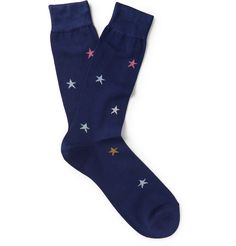 Paul Smith Shoes & Accessories - Star Cotton-Blend Socks | MR PORTER