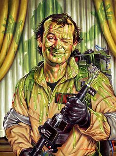 Slimed  13 x 19 limited edition print by JasonEdmiston on Etsy
