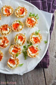 Cream Cheese and Pepper Jelly  Fillo Shells
