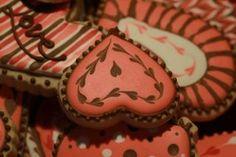Exquisite heart cookies