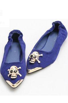 Skeleton Decoration Pointed Toe Shoes