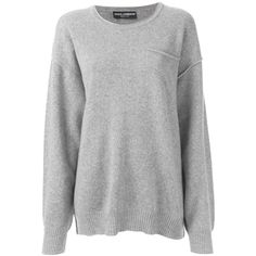 Dolce & Gabbana oversized sweater ($1,190) ❤ liked on Polyvore featuring tops, sweaters, shirts, jumpers, grey, 3/4 sleeve shirts, oversized grey sweater, ribbed shirt, grey sweater and dolce gabbana sweaters
