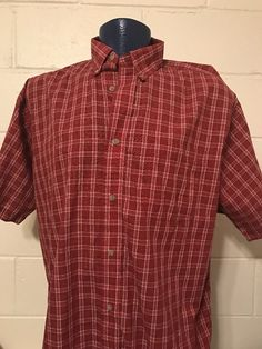 mens WRANGLER RIATA RED PLAID Short sleeve shirt western 2XL XXL COWBOY  | eBay