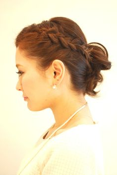 Hairstyles 2014 - classic braid updo |  ヘアスタイル 2014 - クラシック編み込みアレンジ(ヘアスタイリスト 前田 真吾)