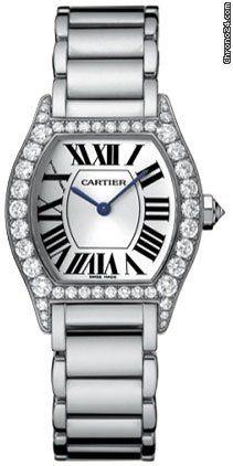 Cartier Tortue Diamond 18kt White Gold Ladies Watch WA5072W9 Write a Review…