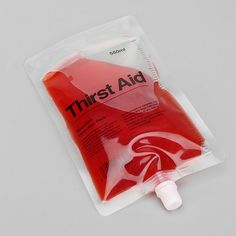thirst aid bag blood, first aid,  25 Things to Get You Excited for Halloween via Brit + Co.  October 2013