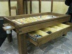 Gaming table for Dungeons and Dragons.