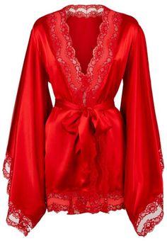 Agent Provocateur Luna Kimono in Red #lingerie #kimono