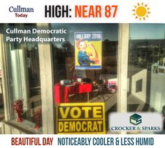 CULLMAN COUNTY WEATHER: FRIDAY - September 2nd  NOTICEABLY COOLER & LESS HUMID  - High 87°   TODAY: Cullman County weather will be noticeably cooler with a high temperature near 90°. A reduction in humidity levels is being ushered in by a north wind of 5 to 10 mph under mostly sunny skies.   TONIGHT: Mostly clear skies with a low around 66° and a north wind of 5 to 10 mph.
